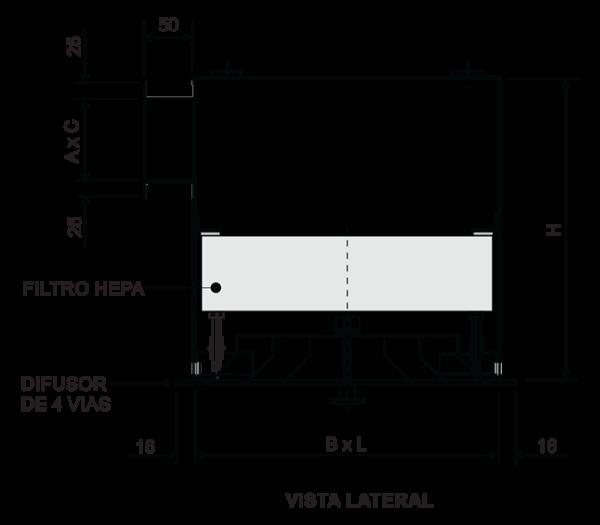 Desenho Caixas Filtrantes de Ar Terminal